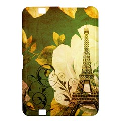 Floral Eiffel Tower Vintage French Paris Kindle Fire Hd 8 9  Hardshell Case by chicelegantboutique