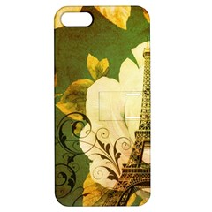 Floral Eiffel Tower Vintage French Paris Apple Iphone 5 Hardshell Case With Stand by chicelegantboutique