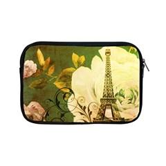 Floral Eiffel Tower Vintage French Paris Apple Ipad Mini Zipper Case by chicelegantboutique