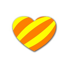Oranges And Lemons Drink Coasters 4 Pack (heart)  by colourconnectors