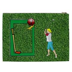 Golf Xxl Cosmetic Bag By Joy Johns   Cosmetic Bag (xxl)   2pzxtuji41si   Www Artscow Com Back
