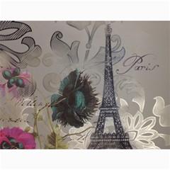 Floral Vintage Paris Eiffel Tower Art Canvas 36  X 48  (unframed) by chicelegantboutique