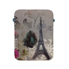 Floral Vintage Paris Eiffel Tower Art Apple Ipad 2/3/4 Protective Soft Case by chicelegantboutique