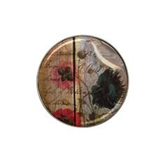 Vintage Bird Poppy Flower Botanical Art Golf Ball Marker 10 Pack (for Hat Clip) by chicelegantboutique