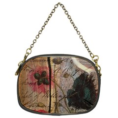 Vintage Bird Poppy Flower Botanical Art Chain Purse (two Sided)  by chicelegantboutique