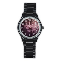 Rustic Barn Wood Purple Chandelier Vintage Paris Fashion Sport Metal Watch (black) by chicelegantboutique