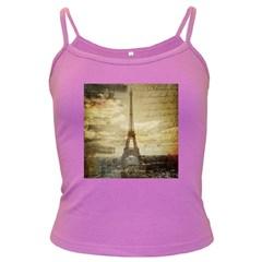 Elegant Vintage Paris Eiffel Tower Art Spaghetti Top (colored) by chicelegantboutique