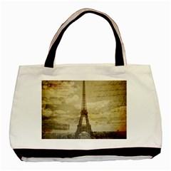 Elegant Vintage Paris Eiffel Tower Art Classic Tote Bag by chicelegantboutique