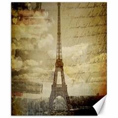 Elegant Vintage Paris Eiffel Tower Art Canvas 8  x 10  (Unframed) by chicelegantboutique