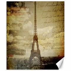 Elegant Vintage Paris Eiffel Tower Art Canvas 20  X 24  (unframed) by chicelegantboutique