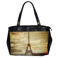 Elegant Vintage Paris Eiffel Tower Art Oversize Office Handbag (two Sides) by chicelegantboutique