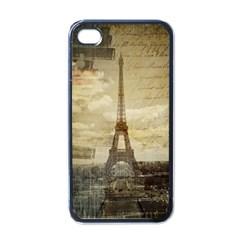 Elegant Vintage Paris Eiffel Tower Art Apple Iphone 4 Case (black) by chicelegantboutique