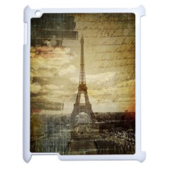 Elegant Vintage Paris Eiffel Tower Art Apple Ipad 2 Case (white) by chicelegantboutique