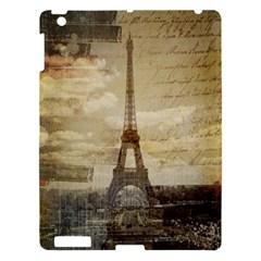Elegant Vintage Paris Eiffel Tower Art Apple Ipad 3/4 Hardshell Case by chicelegantboutique