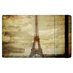 Elegant Vintage Paris Eiffel Tower Art Apple Ipad 2 Flip Case by chicelegantboutique