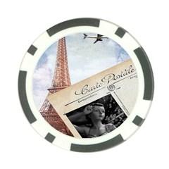 French Postcard Vintage Paris Eiffel Tower Poker Chip by chicelegantboutique