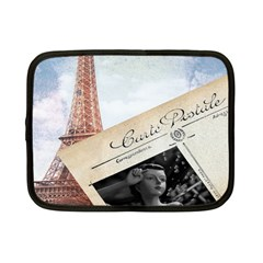 French Postcard Vintage Paris Eiffel Tower Netbook Case (small) by chicelegantboutique