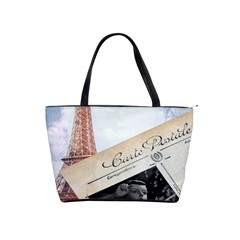 French Postcard Vintage Paris Eiffel Tower Large Shoulder Bag by chicelegantboutique