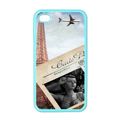 French Postcard Vintage Paris Eiffel Tower Apple Iphone 4 Case (color) by chicelegantboutique