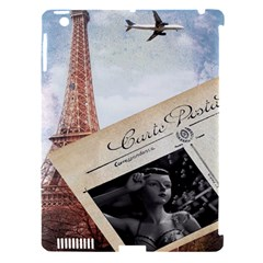 French Postcard Vintage Paris Eiffel Tower Apple Ipad 3/4 Hardshell Case (compatible With Smart Cover) by chicelegantboutique