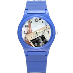 French Postcard Vintage Paris Eiffel Tower Plastic Sport Watch (small) by chicelegantboutique