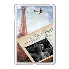 French Postcard Vintage Paris Eiffel Tower Apple Ipad Mini Case (white) by chicelegantboutique