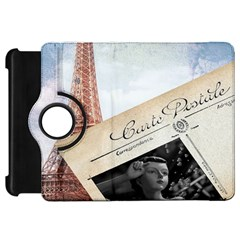 French Postcard Vintage Paris Eiffel Tower Kindle Fire Hd 7  Flip 360 Case by chicelegantboutique