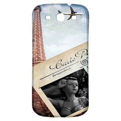 French Postcard Vintage Paris Eiffel Tower Samsung Galaxy S3 S Iii Classic Hardshell Back Case by chicelegantboutique