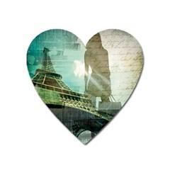 Modern Shopaholic Girl  Paris Eiffel Tower Art  Magnet (heart) by chicelegantboutique