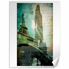 Modern Shopaholic Girl  Paris Eiffel Tower Art  Canvas 36  X 48  (unframed) by chicelegantboutique