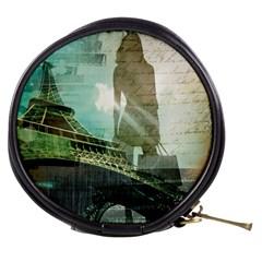 Modern Shopaholic Girl  Paris Eiffel Tower Art  Mini Makeup Case by chicelegantboutique