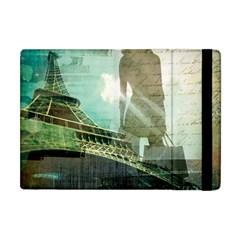 Modern Shopaholic Girl  Paris Eiffel Tower Art  Apple Ipad Mini Flip Case by chicelegantboutique