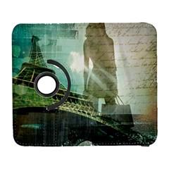 Modern Shopaholic Girl  Paris Eiffel Tower Art  Samsung Galaxy S  Iii Flip 360 Case by chicelegantboutique