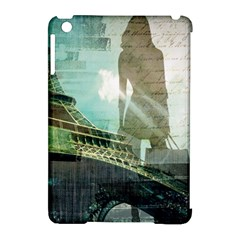 Modern Shopaholic Girl  Paris Eiffel Tower Art  Apple Ipad Mini Hardshell Case (compatible With Smart Cover) by chicelegantboutique