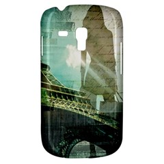 Modern Shopaholic Girl  Paris Eiffel Tower Art  Samsung Galaxy S3 Mini I8190 Hardshell Case by chicelegantboutique