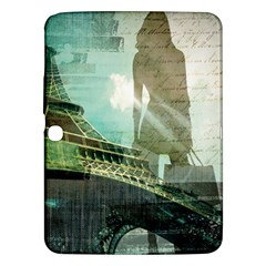 Modern Shopaholic Girl  Paris Eiffel Tower Art  Samsung Galaxy Tab 3 (10 1 ) P5200 Hardshell Case  by chicelegantboutique