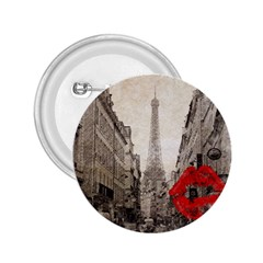 Elegant Red Kiss Love Paris Eiffel Tower 2 25  Button by chicelegantboutique