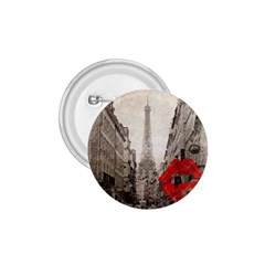 Elegant Red Kiss Love Paris Eiffel Tower 1 75  Button by chicelegantboutique