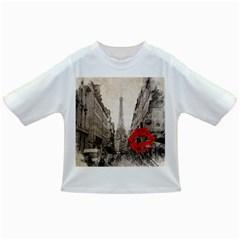Elegant Red Kiss Love Paris Eiffel Tower Baby T Shirt by chicelegantboutique