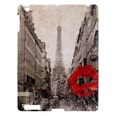 Elegant Red Kiss Love Paris Eiffel Tower Apple Ipad 3/4 Hardshell Case by chicelegantboutique