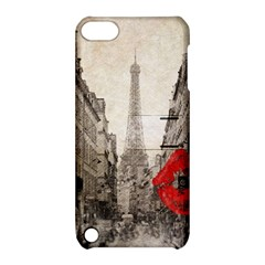 Elegant Red Kiss Love Paris Eiffel Tower Apple Ipod Touch 5 Hardshell Case With Stand by chicelegantboutique
