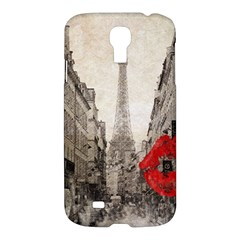 Elegant Red Kiss Love Paris Eiffel Tower Samsung Galaxy S4 I9500/i9505 Hardshell Case by chicelegantboutique