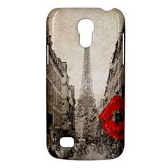 Elegant Red Kiss Love Paris Eiffel Tower Samsung Galaxy S4 Mini Hardshell Case  by chicelegantboutique