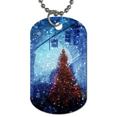 Elegant Winter Snow Flakes Gate Of Victory Paris France Dog Tag (two Sided)  by chicelegantboutique