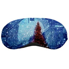 Elegant Winter Snow Flakes Gate Of Victory Paris France Sleeping Mask by chicelegantboutique