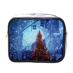 Elegant Winter Snow Flakes Gate Of Victory Paris France Mini Travel Toiletry Bag (one Side) by chicelegantboutique