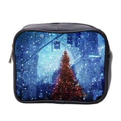 Elegant Winter Snow Flakes Gate Of Victory Paris France Mini Travel Toiletry Bag (two Sides) by chicelegantboutique