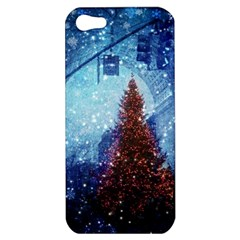Elegant Winter Snow Flakes Gate Of Victory Paris France Apple Iphone 5 Hardshell Case by chicelegantboutique