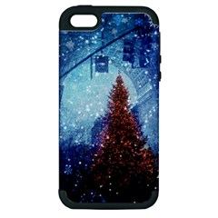 Elegant Winter Snow Flakes Gate Of Victory Paris France Apple Iphone 5 Hardshell Case (pc+silicone) by chicelegantboutique