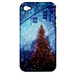 Elegant Winter Snow Flakes Gate Of Victory Paris France Apple Iphone 4/4s Hardshell Case (pc+silicone) by chicelegantboutique